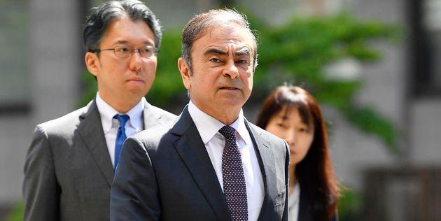 Carlos Ghosn le 23 mai 2019, en arrivant au tribunal de