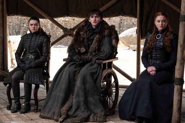 Arya, Bran and Sansa Stark at the end of Season