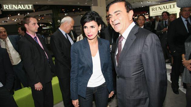 Rachida Dati et Carlos Ghosn au Parc des expositions de la Porte de Versailles à Paris, en septembre