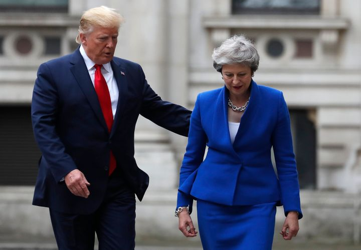 President Donald Trump and British Prime Minister Theresa May.