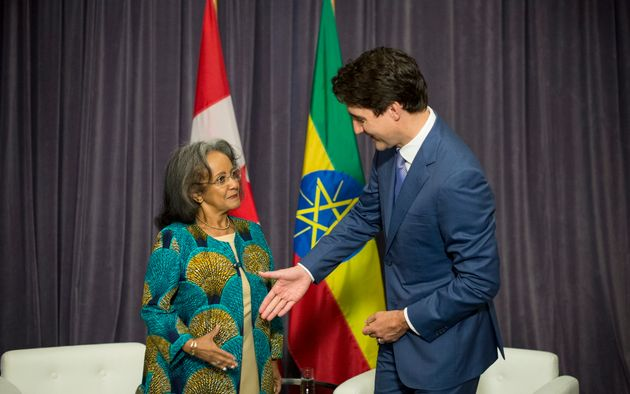 Trudeau meets with President of Ethiopia, Sahle-Work Zewde during the Women Deliver Conference...