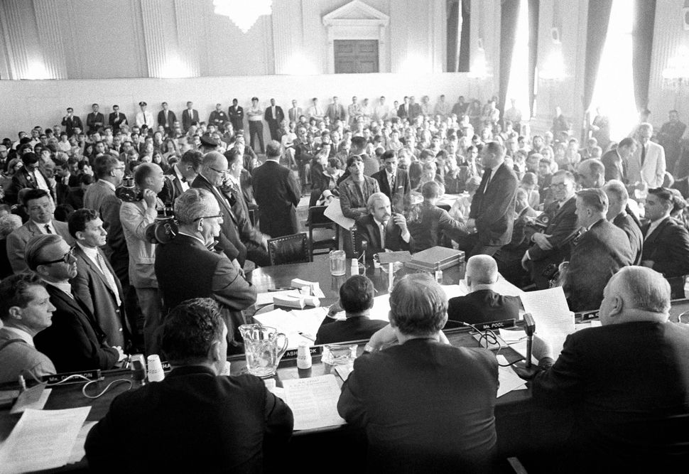 The House Un-American Activities Committee (pictured here in 1966) was a major actor in the mid-20th century anti-communism h