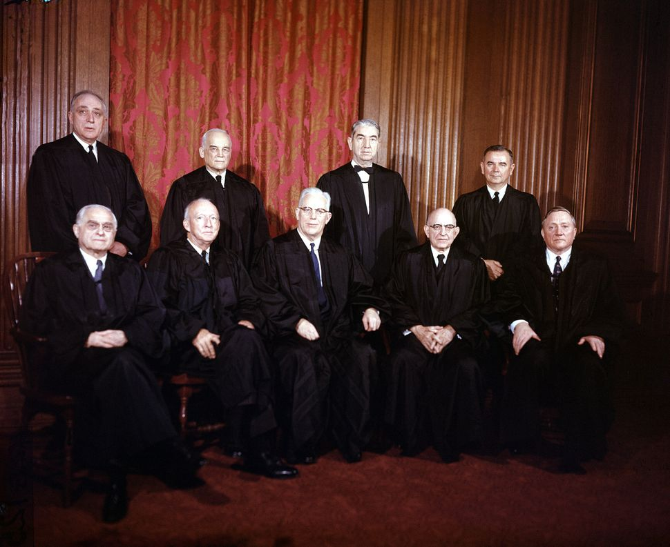 The Supreme Court in 1957 when it ruled on Watkins v. United States.