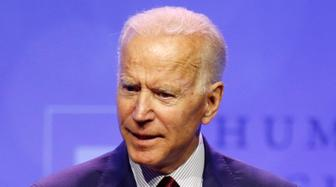 Democratic presidential candidate, former Vice President Joe Biden speaks during the Human Rights Campaign Columbus, Ohio Dinner at Ohio State University Saturday, June 1, 2019. (AP Photo/Paul Vernon)
