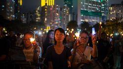 홍콩 천안문 추모집회에 사상 최대의 인원이