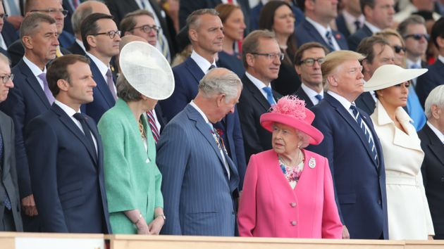 Donald Trump and Melania have joined D-Day commemorations with the Queen other allied leaders in
