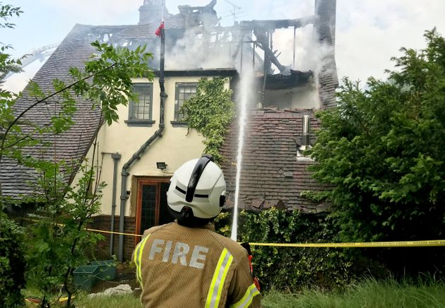 Crews were called to the property in Croydon on