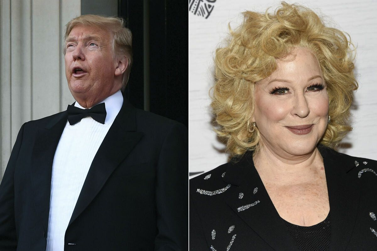 Donald Trump and Bette Midler (Credit: Getty)
