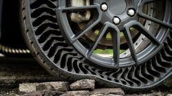 Michelin et GM présentent un pneu sans air et