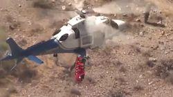 Mareante y esperpéntico: así es este rescate en helicóptero en Estados