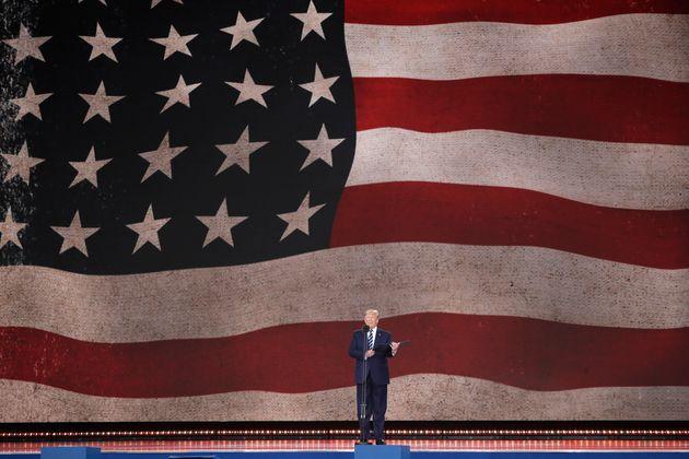 Trump read a prayer written by his predecessor Franklin D