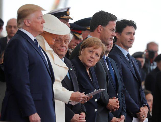 Todos somos Merkel: su mirada a esta escena lo dice
