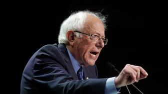 Democratic presidential candidate Sen. Bernie Sanders, I-Vt., speaks during the 2019 California Democratic Party State Organizing Convention in San Francisco, Sunday, June 2, 2019. (AP Photo/Jeff Chiu)