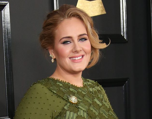 Adele arrives at the 2017