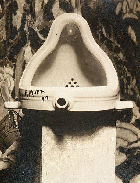 El urinario presentado supuestamente por Duchamp a la Exposición de la Sociedad de Artistas Independientes...