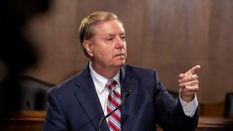 WASHINGTON, DC - MAY 15: Senate Judiciary Chairman Lindsey Graham, (R-SC)., speaks at a news conference proposing legislation to address the crisis at the southern border at the U.S. Capitol on May 15, 2019 in Washington, DC. Senate Republicans met with Vice President Mike Pence and White House Advisor Jared Kushner yesterday to discuss President Donald Trump's plan to overhaul the immigration system. (Photo by Anna Moneymaker/Getty Images)