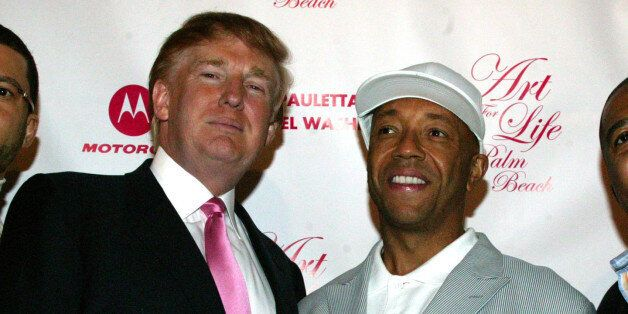 Al Reynolds, Donald Trump, Russell Simmons and Kevin Liles (Photo by Johnny Nunez/WireImage)