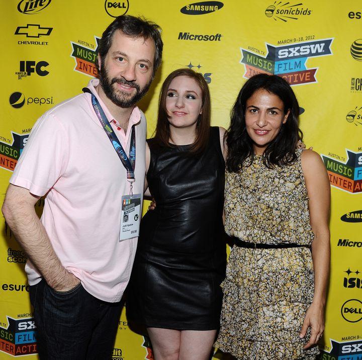 AUSTIN, TX - MARCH 12:  (L-R) Producer Judd Apatow, Writer/Director/Actress Lena Dunham and writer Jenni Konner attend 'Girls