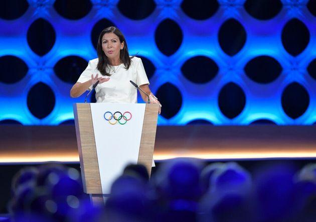 Anne Hidalgo en septembre 2017 à Lima, plaidant en faveur de la candidature de Paris pour les