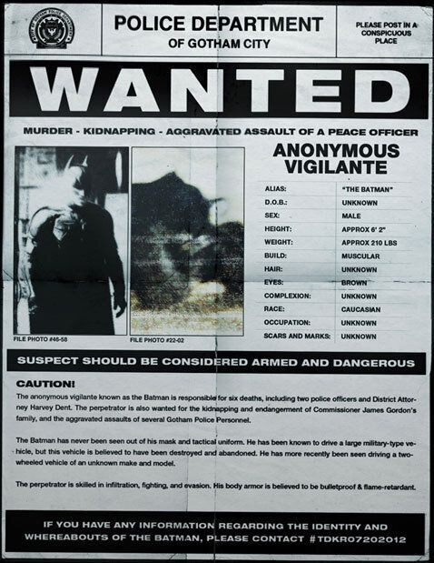 Dark Knight Rises' Viral Campaign: Batman Wanted By Gotham