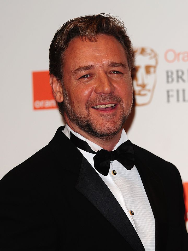 Russell Crowe in the press room at the 2012 Orange British Academy Film Awards at the Royal Opera House, Bow Street, London.