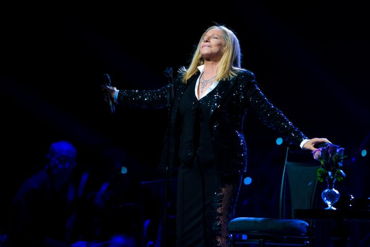 PHILADELPHIA, PA - OCTOBER 8: Barbra Streisand performs on the opening night of her 'Back To Brooklyn' tour at the Wells Farg