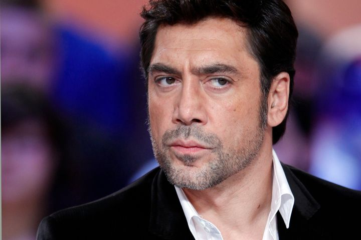 Spanish actor Javier Bardem, starring in the new James Bond film 'Skyfall', takes part in the TV show 'Le grand journal' on a