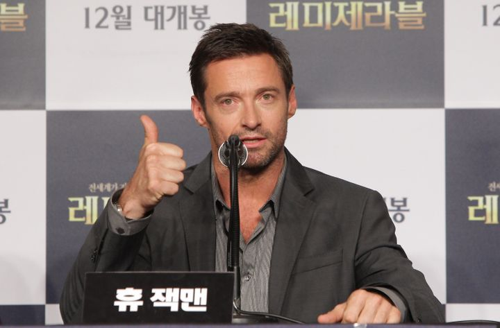 SEOUL, SOUTH KOREA - NOVEMBER 26:  Actor Hugh Jackman attends the 'Les Miserables' press conference at Ritz Carlton hotel on
