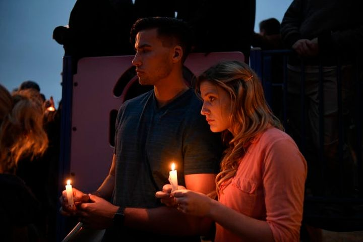 A vigil for victims of the Chabad of Poway synagogue shooting. On, April 28, 2019, a man opened fire Saturday inside the syna