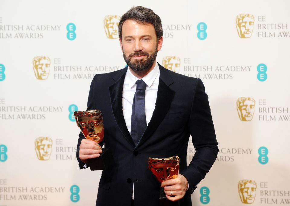 LONDON, ENGLAND - FEBRUARY 10:  Ben Affleck, winner of the Best Film and Best Director award for 'Argo', poses in the press r