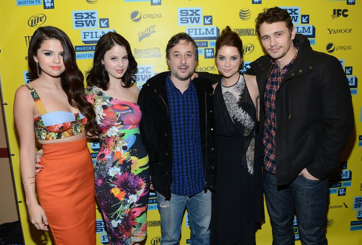 AUSTIN, TX - MARCH 10:  (L-R) Actress Selena Gomez, actress Rachel Korine, director Harmony Korine, actress Ashley Benson and