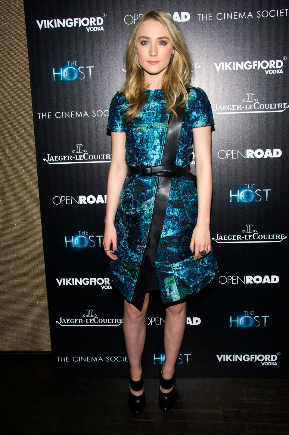 "Saoirse Ronan attends a screening of ""The Host"" presented by The Cinema Society and Jaeger-LeCoultre on Wednesday, March 27,"