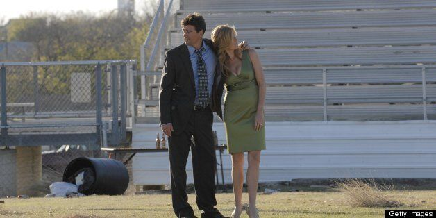 FRIDAY NIGHT LIGHTS -- 'Tomorrow's Blues' Episode 313 -- Pictured: (l-r) Kyle Chandler as Eric Taylor, Connie Britton as Tami