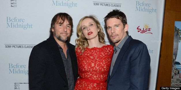 LOS ANGELES, CA - MAY 21:  Writer Richard Linklater, actress Julie Delpy and actor Ethan Hawke attend the premiere of Sony Pi