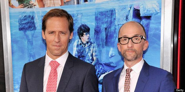 NEW YORK, NY - JUNE 26:  Actor Nat Faxon (L) and actor Jim Rash attend 'The Way, Way Back ' New York Premiere at AMC Loews Li
