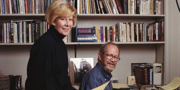 American novelist Elmore Leonard with his wife Christine in Detroit, Michigan, circa 1992. (Photo by Michael Brennan/Getty Im