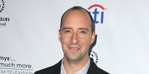 UNIVERSAL CITY, CA - AUGUST 19:  Tony Hale arrives at the Academy Of Television Arts & Sciences' Performers Peer Group Cockta