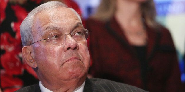 BOSTON, MA - APRIL 23:  Boston Mayor Thomas Menino looks on at a press conference heralding The One Fund on April 23, 2013 in