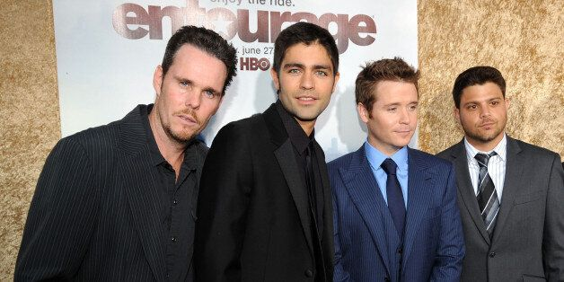 Actors Kevin Dillon, Adrian Grenier, Kevin Connolly, Jerry Ferrara and Rex Lee arrive at HBO's 'Entourage' Season 7 premiere