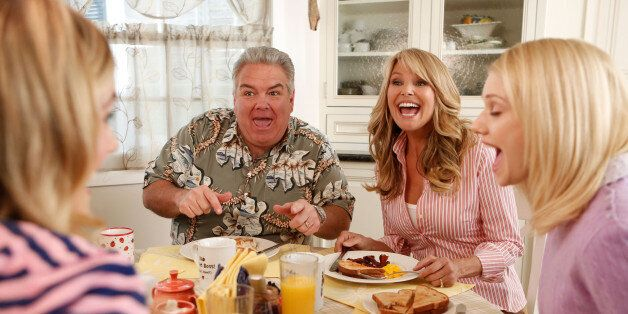 PARKS AND RECREATION -- 'Jerry's Scrapbook' Episode 521 -- Pictured: (l-r) Jim O'Heir as Jerry Gergich, Christie Brinkley as