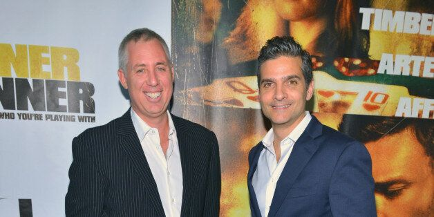 LAS VEGAS, NV - SEPTEMBER 18:  Writers Brian Koppelman (L) and David Levien arrive at the world premiere of Twentieth Century