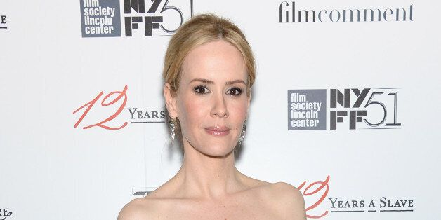 NEW YORK, NY - OCTOBER 08:  Actress Sarah Paulson attends the '12 Years A Slave' premiere during the 51st New York Film Festi