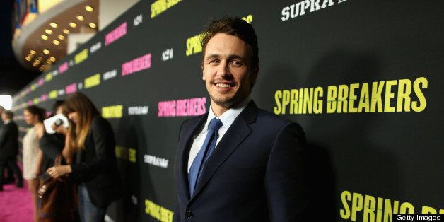 HOLLYWOOD, CA - MARCH 14:  Actor James Franco attends the 'Spring Breakers' premiere at ArcLight Cinemas on March 14, 2013 in
