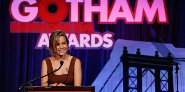 NEW YORK, NY - DECEMBER 02:  Actress Brie Larson speaks onstage IFP's 23nd Annual Gotham Independent Film Awards at Cipriani