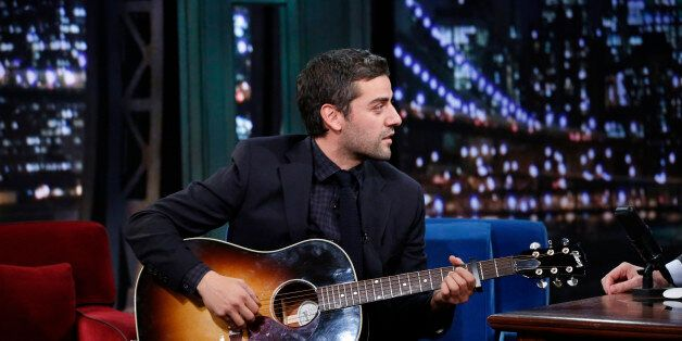 LATE NIGHT WITH JIMMY FALLON -- Episode 940 -- Pictured: Oscar Isaac on Monday, December 9, 2013 -- (Photo by: Lloyd Bishop/N