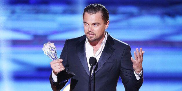 SANTA MONICA, CA - JANUARY 16:  Leonardo DiCaprio speaks onstage during the 19th Annual Critics' Choice Movie Awards held at