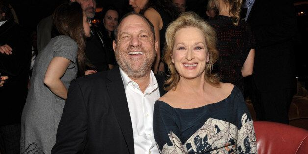 WEST HOLLYWOOD, CA - JANUARY 27: Harvey Weinstein (L) and actress Meryl Streep attend the Australian Academy Of Cinema And Television Arts International Awards Ceremony at Soho House on January 27, 2012 in West Hollywood, California. (Photo by John Shearer/WireImage)