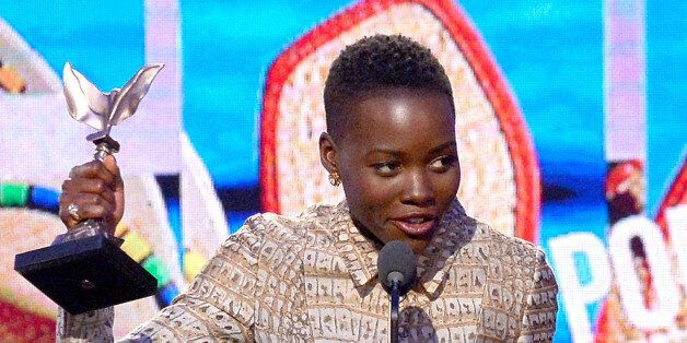 SANTA MONICA, CA - MARCH 01:  Actress Lupita Nyong'o accepts the Best Supporting Female award for '12 Years a Slave' onstage