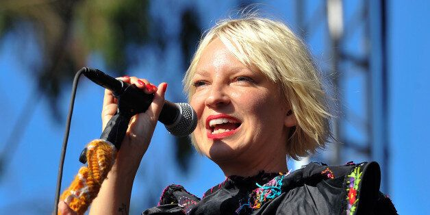 SAN FRANCISCO, CA - AUGUST 13: Sia performs on Day 2 of Outside Lands Music Festival at Golden Gate Park on August 13, 2011 i