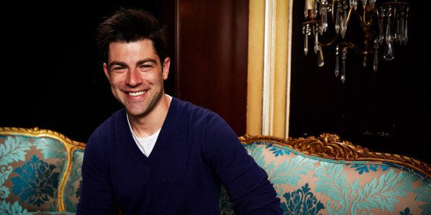 NEW YORK, NY - APRIL 18:  Max Greenfield visits the WireImage portrait studio at the Tribeca Film Festival Films 'About Alex,